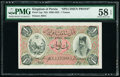 Iran Kingdom of Persia, Imperial Bank 1 Toman ND (1890-1923) Pick 1sp Specimen Proof PMG Choice About Unc 58 EPQ