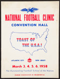 Football Collectibles:Publications, 1958 National Football Clinic Program - Vince Lombardi. ...