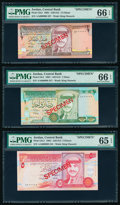Jordan Central Bank 1/2; 1; 5; 10; 20 Dinars 1992 / AH1412 Pick 23s1; 24s1; 25s1; 26s; 27s Five Specimen PMG Choice Unci...