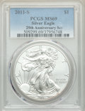 2011-S $1 Silver Eagle, 25th Anniversary Set MS69 PCGS. PCGS Population: (1244/1085). NGC Census: (2188/2982). CDN: $150...