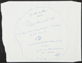 Autographs:Others, 1989 Muhammad Ali Signed Paper. ...