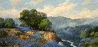 A.D. Greer (American, 1904-1998) Bluebonnets, 1985 Oil on canvas 24 x 48 inches (61.0 x 121.9 cm)