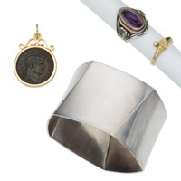 Multi-Stone, Diamond, Gold, Sterling Silver Jewelry ... (Total: 4 Items)
