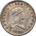 Early Half Dollars, 1795 50C 2 Leaves, O-115, T-10, R.5, AU53 PCGS....
