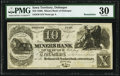 Obsoletes By State:Iowa, Dubuque, IA (Terr.)- Miners Bank of Dubuque at Mechanics' & Traders' Bank, Cincinnati $10 18__ Remainder G6 Oakes 58-3 PMG...
