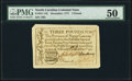North Carolina December, 1771 £3 PMG About Uncirculated 50