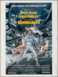 "Moonraker (United Artists, 1979). Rolled, Very Fine+. Poster (30"" X 40""). Dan Goozee Artwork. James Bond"