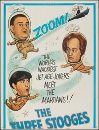 """The Three Stooges in Orbit (Columbia, 1962). Folded, Fine+. Partial Three Sheet (41"""" X 54""""). Comedy"""