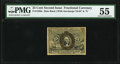 Fractional Currency:Second Issue, Fr. 1286a 25¢ Second Issue Slate Back PMG About Uncirculated 55.. ...