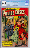 Golden Age (1938-1955):Crime, Authentic Police Cases #10 (St. John, 1950) CGC FN+ 6.5 Cream to off-white pages....
