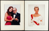 George Burns & Catherine Bach & Other Lot (TV Guide, 1984). Very Fine-. Color Portrait Photo in Matted Frames (2...