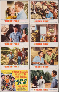 "Green Fire (MGM, 1954). Very Fine. Lobby Card Set of 8 (11"" X 14""). Adventure. ... (Total: 8 Items)"