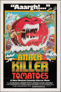 "Attack of the Killer Tomatoes (NAI Entertainment, 1978). Rolled, Very Fine-. One Sheet (27"" X 41""). David Weis..."
