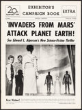 """Movie Posters:Science Fiction, Invaders from Mars (20th Century Fox, 1953). Very Fine-. Uncut Pressbook (12 Pages, 11"""" X 15""""). Science Fiction.. ..."""