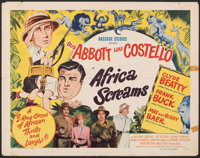"Africa Screams (United Artists, 1949). Folded, Fine+. Half Sheet (22"" X 28"") Style A. Comedy"