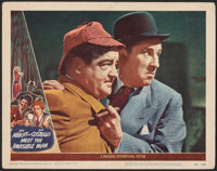 "Abbott and Costello Meet the Invisible Man (Universal International, 1951). Very Fine-. Lobby Card (11"" X 14"")..."