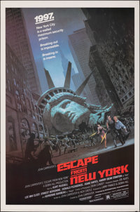 """Escape from New York (Avco Embassy, 1981). Rolled, Very Fine+. One Sheet (27"""" X 41""""). Barry Jackson Artwork. S..."""