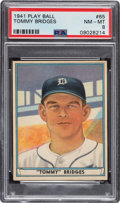 Baseball Cards:Singles (1940-1949), 1941 Play Ball Tommy Bridges #65 PSA NM-MT 8 - Only One Higher. ...