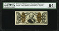 Fractional Currency:Third Issue, Fr. 1333 50¢ Third Issue Spinner PMG Choice Uncirculated 64 EPQ.. ...