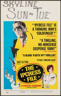 "The Ipcress File (Universal, 1965). Folded, Fine/Very Fine. Window Card (14"" X 22""). Thriller"