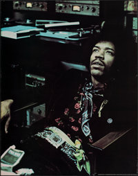 """Jimi Hendrix (Thofra, 1972). Rolled, Very Fine-. Personality Poster (32"""" X 41"""") Gypsy Dave Photography. Rock a..."""