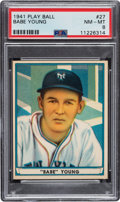 Baseball Cards:Singles (1940-1949), 1941 Play Ball Babe Young #27 PSA NM-MT 8 - Only Two Higher. ...