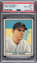 Baseball Cards:Singles (1940-1949), 1941 Play Ball Jack Wilson #29 PSA NM-MT+ 8.5 - Pop One, One Higher. ...