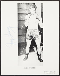 Jerry Quarry Signed Photograph