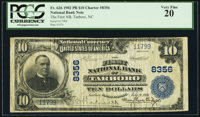 Tarboro, NC - $10 1902 Plain Back Fr. 626 The First National Bank Ch. # 8356 PCGS Very Fine 20