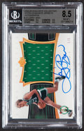 Basketball Cards:Singles (1980-Now), 2004 Exquisite Collection Larry Bird Extra Exquisite Jersey Autograph #AEE-LB BGS NM-MT+ 8.5, Auto 9 - Serial Numbered 1/5....
