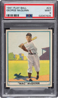 Baseball Cards:Singles (1940-1949), 1941 Play Ball George McQuinn #23 PSA Mint 9 - Pop Four, None Higher. ...