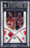 Basketball Cards:Singles (1980-Now), 2005 SP Game Used Michael Jordan/LeBron James Dual Authentic Fabrics #AF2-JJ BGS Mint 9 - Serial Numbered 35/100....