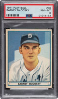 Baseball Cards:Singles (1940-1949), 1941 Play Ball Barney McCosky #36 PSA NM-MT 8 - Only One Higher. ...