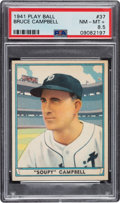 Baseball Cards:Singles (1940-1949), 1941 Play Ball Bruce Campbell #37 PSA NM-MT+ 8.5 - Pop Two, None Higher. ...