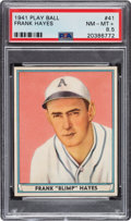 Baseball Cards:Singles (1940-1949), 1941 Play Ball Frank Hayes #41 PSA NM-MT+ 8.5 - Pop Two, One Higher. ...