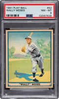Baseball Cards:Singles (1940-1949), 1941 Play Ball Wally Moses #42 PSA NM-MT 8 - Four Higher. ...
