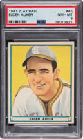 Baseball Cards:Singles (1940-1949), 1941 Play Ball Elden Auker #45 PSA NM-MT 8 - Only Three Higher. ...