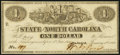 Raleigh, NC- State of North Carolina $1 Jan. 1, 1863 Cr. 132 Crisp Uncirculated