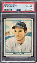Baseball Cards:Singles (1940-1949), 1941 Play Ball Cecil Travis #48 PSA NM-MT 8 - Only One Higher. ...