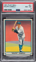 Baseball Cards:Singles (1940-1949), 1941 Play Ball Dolph Camilli #51 PSA NM-MT 8 - Only Three Higher. ...