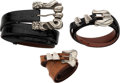 Luxury Accessories:Accessories, Kieselstein-Cord Set of Three: Aged Silver Belts. Condition: 3. See Extended Condition Report for Sizes... . ... (Total: 3 )
