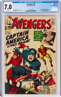 Silver Age (1956-1969):Superhero, The Avengers #4 (Marvel, 1964) CGC FN/VF 7.0 Off-white pages....