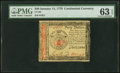 Colonial Notes:Continental Congress Issues, Continental Currency January 14, 1779 $40 PMG Choice Uncirculated 63 EPQ.. ...