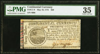 Continental Currency May 10, 1775 $20 PMG Choice Very Fine 35