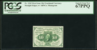 Fr. 1242 10¢ First Issue PCGS Superb Gem New 67PPQ