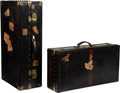 Luxury Accessories:Travel/Trunks, Goyard Set of Two: Wardrobe Steamer Trunk and Suitcase