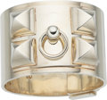 "Luxury Accessories:Accessories, Hermès Silver Collier de Chien Bracelet. Condition: 3. 6"" Circumference. ..."