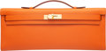 """Luxury Accessories:Bags, Hermès Orange H Epsom Leather Kelly Cut Clutch with Gold Hardware. R Square, 2014. Condition: 1. 12"""" Width x 5"""" He..."""