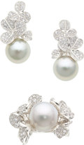 Estate Jewelry:Suites, South Sea Cultured Pearl, Diamond, White Gold Jewelry, Mikimoto. ... (Total: 2 Items)