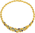 Estate Jewelry:Necklaces, Turquoise, Lapis Lazuli, Gold Necklace, Van Cleef & Arpels...